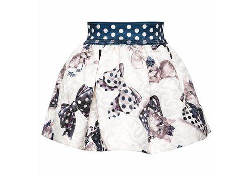 Monnalisa Monnalisa Skirt St.Gattino Offwhite - Blue
