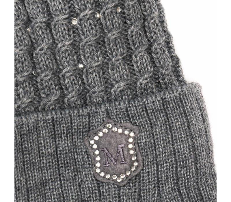 Monnalisa Hat Pom-Pom Grey