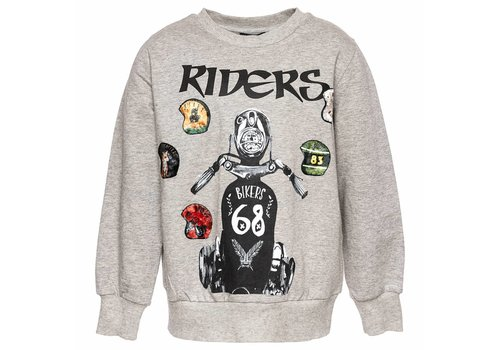 Monnalisa Monnalisa Sweater St.Riders Grijs