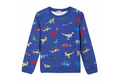 Paul Smith Paul Smith Sweater Dinos Medium Blauw