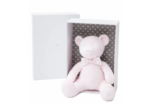First Musical Bear Pink Velvet (Gift Box Included)
