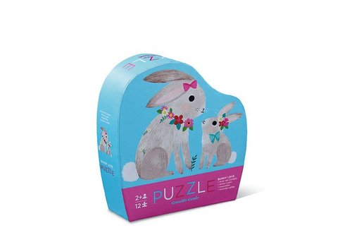 Crocodile Creek Crocodile Creek Mini Puzzel Bunny Love 12 Stuks