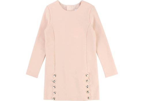 Chloe Chloe Dress Apricot Buttons Front