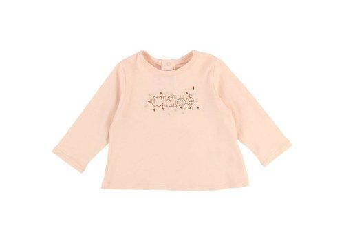 Chloe Chloe T-Shirt 'Chloé' Abrikoos