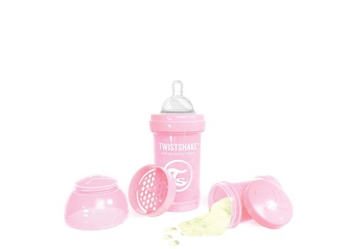 TwistShake TwistShake Baby Bottle Anti-Colic 180 ml Pastel Pink