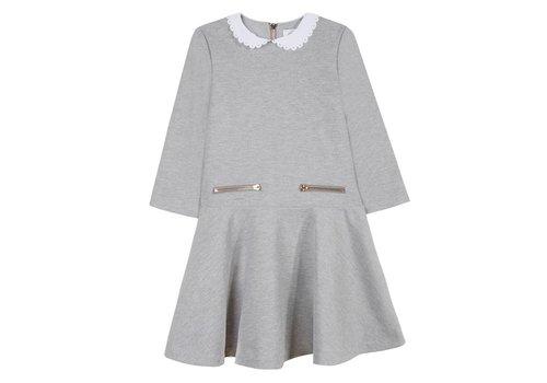 Tartine Et Chocolat Tartine & Chocolat Dress Grey White Collar