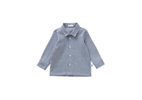 Il Gufo Il Gufo Hemd Blauw - Wit