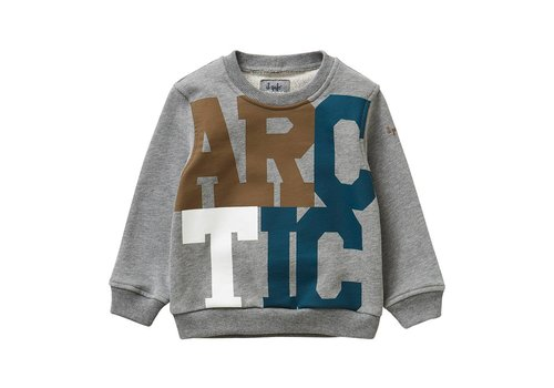Il Gufo Il Gufo Sweater Arctic Grijs Lake Blue