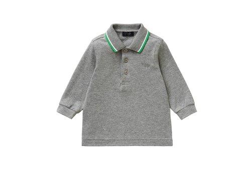 Il Gufo Il Gufo Polo Grey - Collar Green