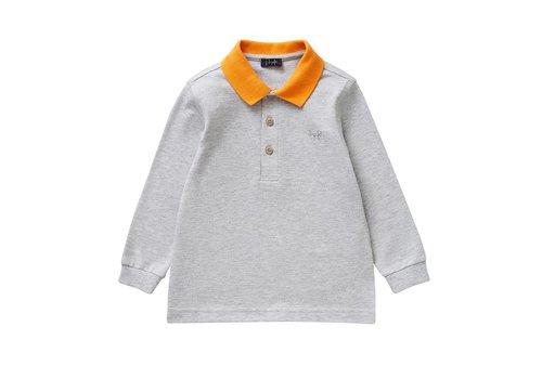Il Gufo Il Gufo Polo Shirt Grijs - Oranje Kraag