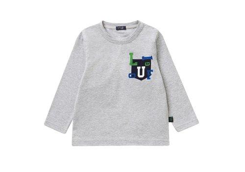 Il Gufo Il Gufo T-Shirt Grijs - Blauw Pocket