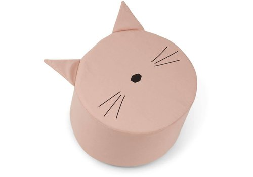 Liewood Liewood Poef Play Cushion Cat Rose