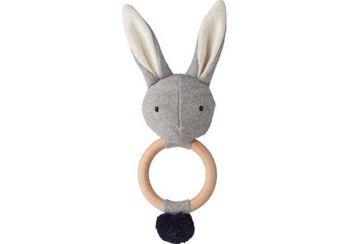 Liewood Liewood Rattle Aria Rabbit Grey