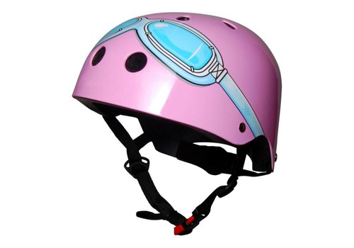 KiddiMoto Kiddimoto Helmet Pink Goggles