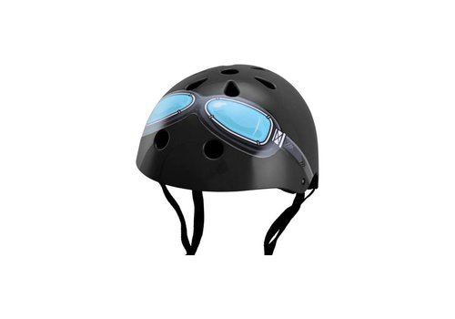 KiddiMoto Kiddimoto Helmet Black Goggle