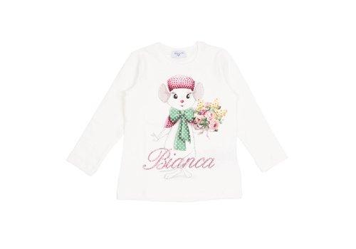 Monnalisa Monnalisa T-Shirt St.Bianca Basic Ecru