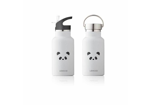 Liewood Liewood Anker Water Bottle Panda Light Grey