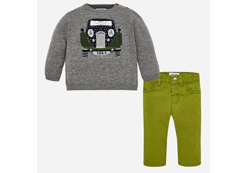 Mayoral Mayoral Sweater And Pants Set Car