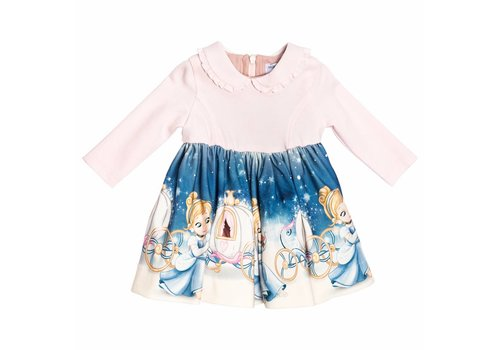 Monnalisa Monnalisa Dress Cinderella Pink Print
