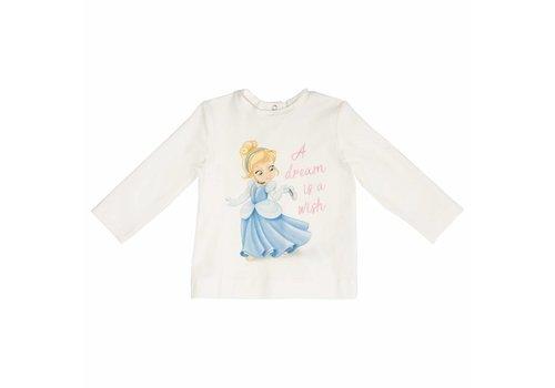 Monnalisa Monnalisa T-Shirt Cinderella 'A Dream' Ecru