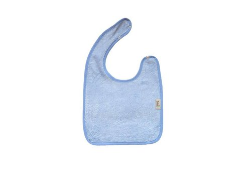 Timboo Timboo Bib Large 26 x 38 With Push Button Soft Blue
