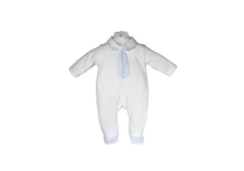 My First Collection First Pyjamas Tie White - Blue