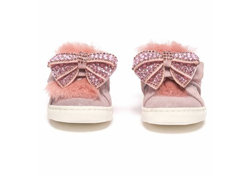 Monnalisa Monnalisa Sneakers Roze Strik