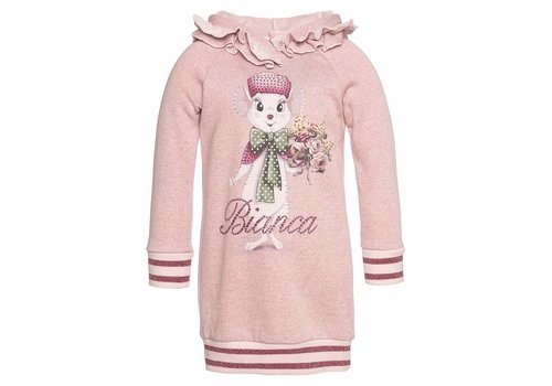 Monnalisa Monnalisa Kleed Roze - Bianca Cat
