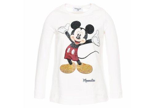 Monnalisa Monnalisa T-Shirt Mickey Ecru