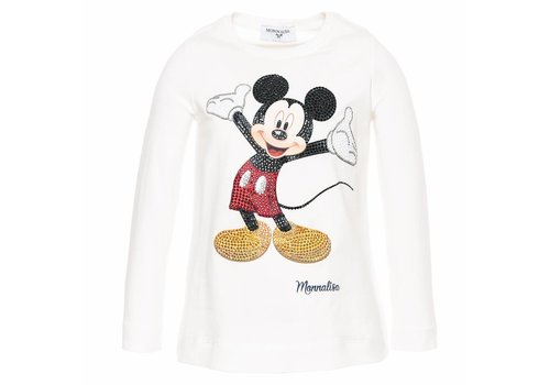 Monnalisa Monnalisa T-Shirt Mickey Offwhite