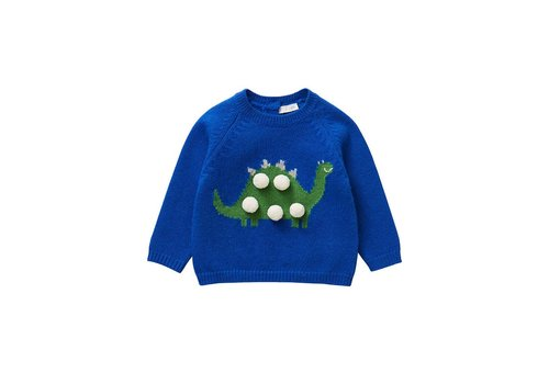 Il Gufo Il Gufo Sweater Dino Blue Green