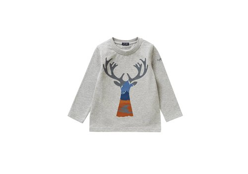 Il Gufo Il Gufo T-Shirt L/S Grijs Deer