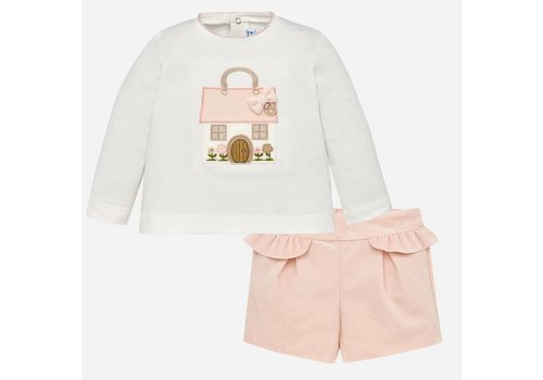 Mayoral Mayoral Bermuda Shorts Set Pink