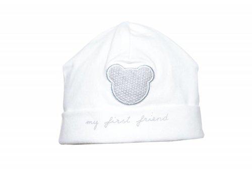 First First Hat My First Friend White Grey
