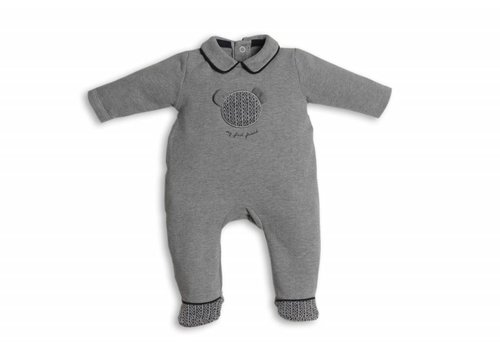 My First Collection First Combi Teddy On Front Grey