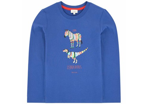 Paul Smith Paul Smith T-Shirt Sal Medium Blue Zebra