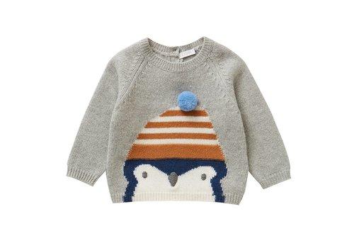 Il Gufo Il Gufo Sweater Cloud Grey Pinguin