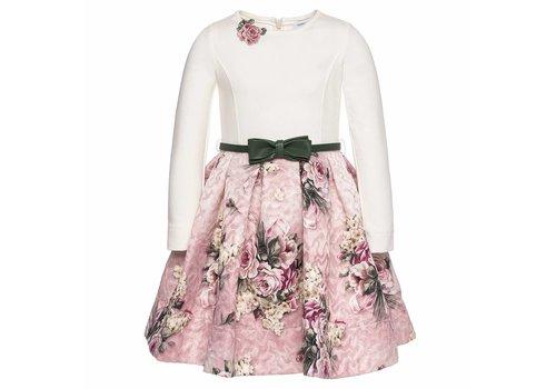 Monnalisa Monnalisa Dress St.Mazzolini Offwhite - Pink