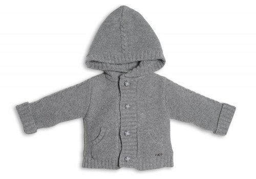 First First Knitted & Lined Jacket Hood Casano Grey