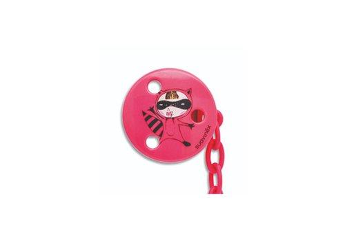 Suavinex Suavinex Pacifier Clip Round Pink