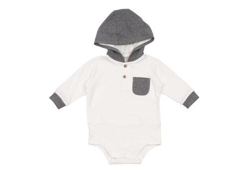 Aletta Aletta Body Shirt With Hood White - Grey