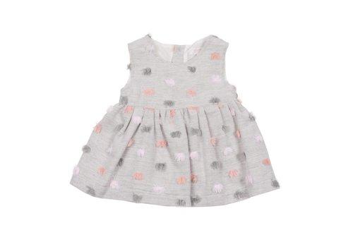 Aletta Aletta Dress Grey Pompons