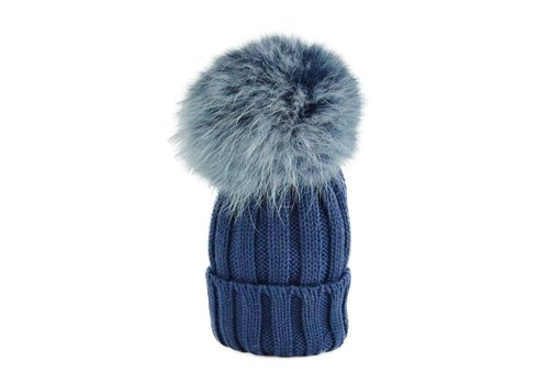 Catya Catya Hat With Pom Pom Blue