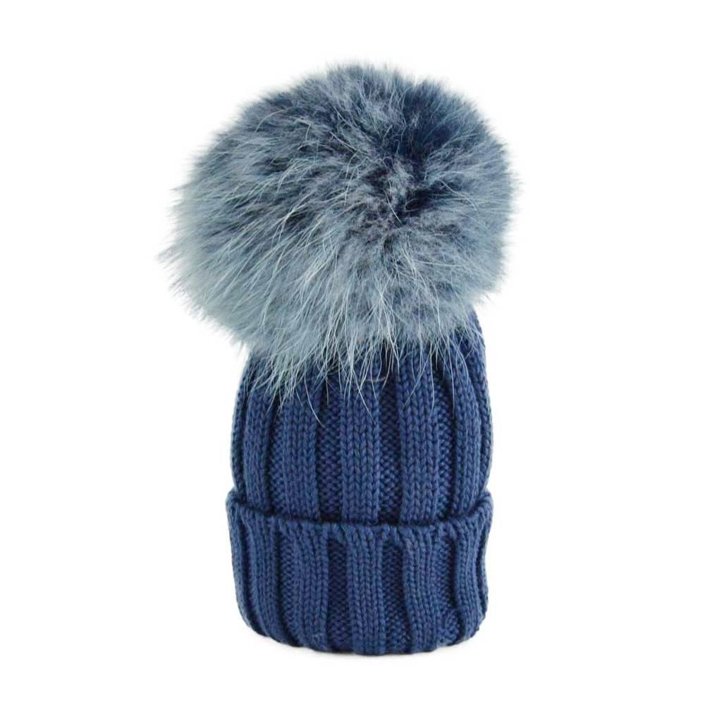 Catya Hat With Pom Pom Blue - Jules   Juliette 50c49e61dfa