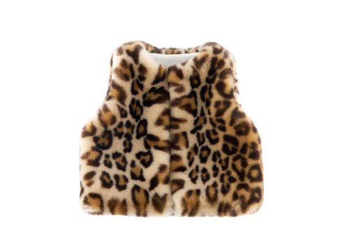 Theophile & Patachou Theophile & Patachou Fur Body Warmer Without Sleeves Leopard