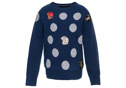 Monnalisa Monnalisa Sweater Blue Spots