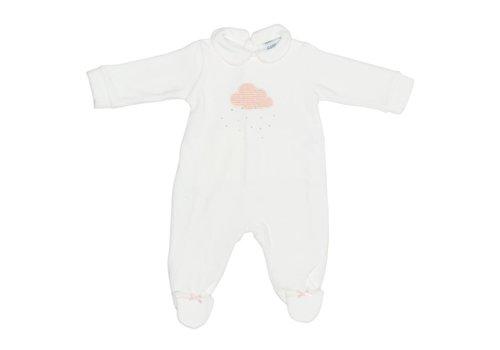 Cotolini Cotolini Baby Pyjama Wit - Roze Wolk