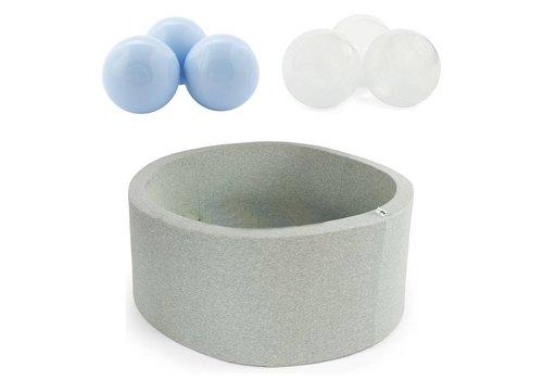 Misioo Misioo Ballenbad Grijs - 400 Ballen Pearl Baby Blauw