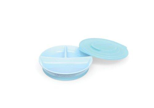 TwistShake TwistShake Plate With Boxes Pastel Blue