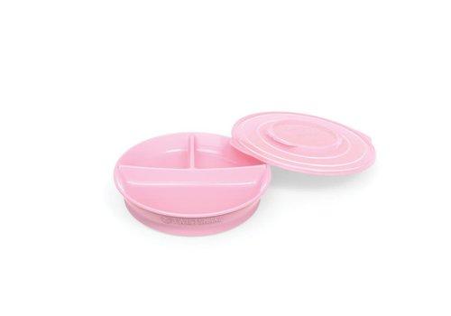 TwistShake TwistShake Plate With Boxes Pastel Pink